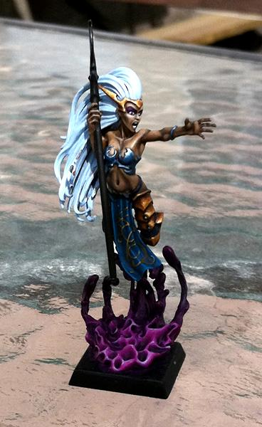 Dark Elf Sorceress, Freehand, Lighting