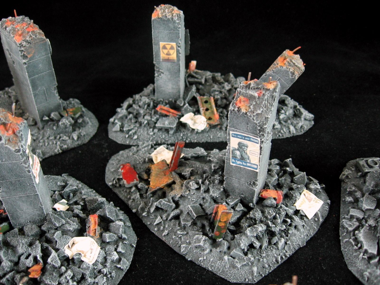 Rubble, Ruins, Scatter Terrain, Terrain
