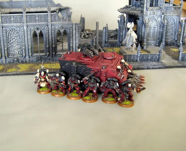 Blood Angels, Flesh Tearers, Razorback, Space Marines