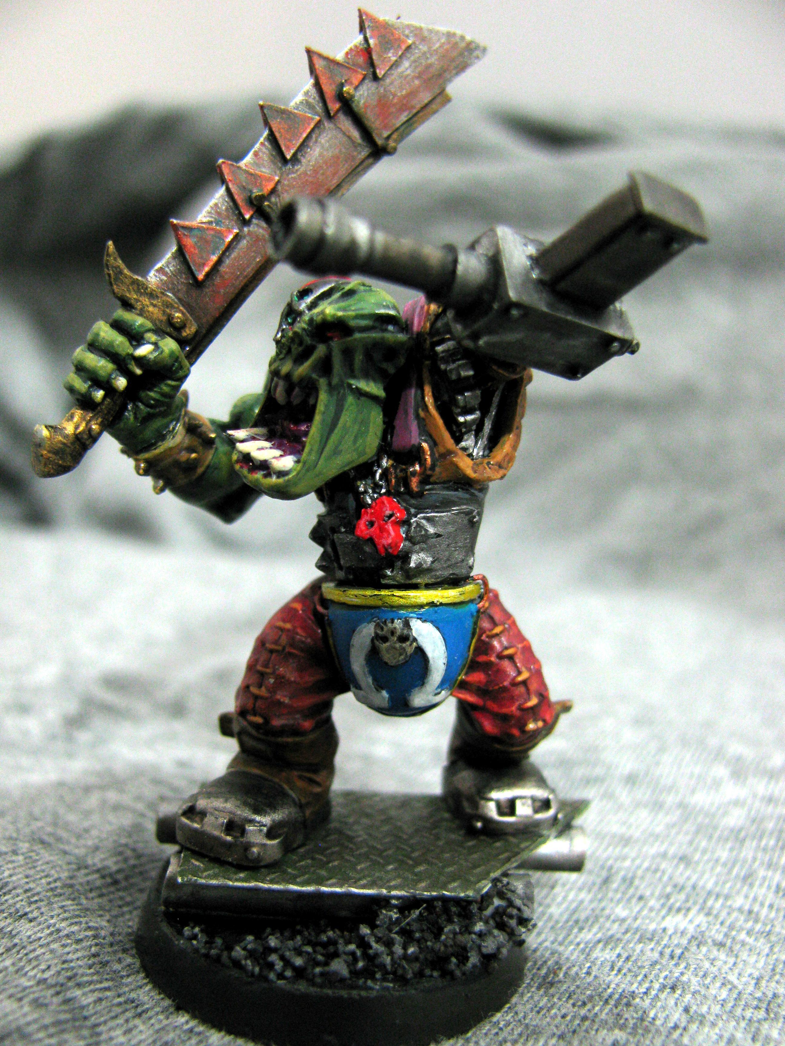 Conversion, Cyborks, Marine Abuse, Nob, Orks, Warhammer 40,000