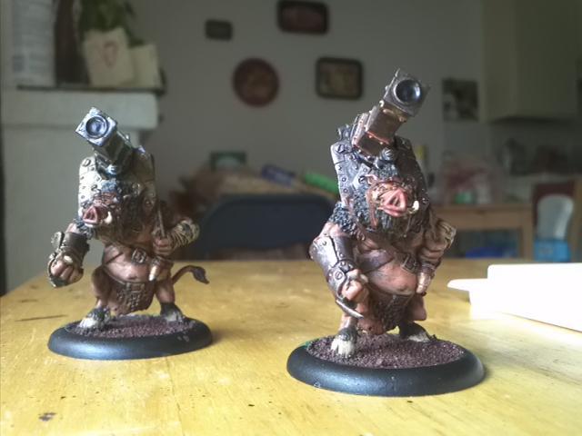 Farrow, Gun Boar, Gunboar, Hogs, Hordes, Minions, Privateer Press, War Hog, Warhog