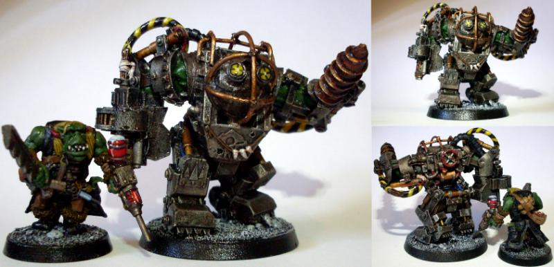 Big big daddy bioshock conversion daddy ghazghkull for Big daddy s antiques