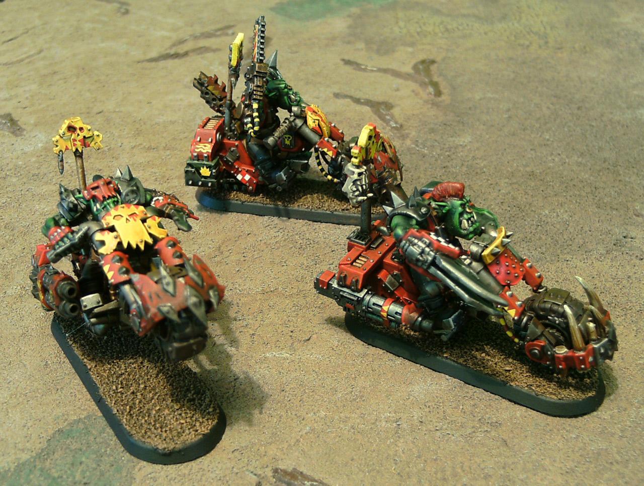 Bike, Evil Suns, Motorcycles, Nob Bikers, Orks, Ouze, Power Claw, Power Klaw, Warbikers, Warhammer 40,000
