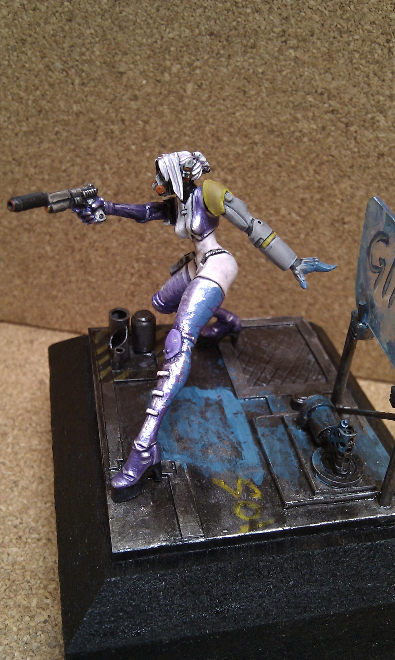 Cyberpunk, Female, Girls, Gunslinger