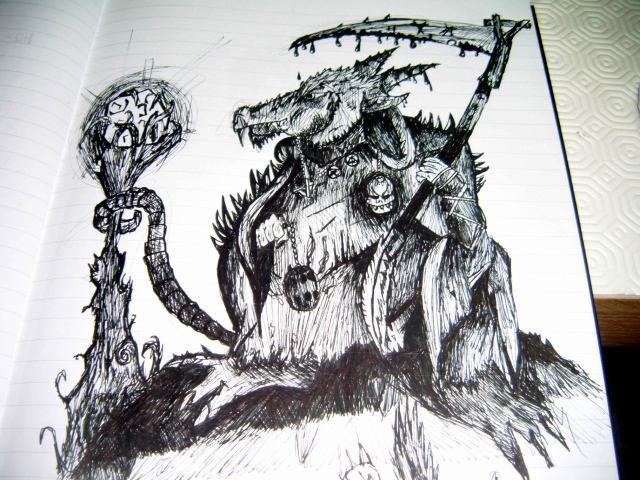 Artwork, Drawn, Scythe, Seer, Skaven, Staff, Stone, Warlord, Warp