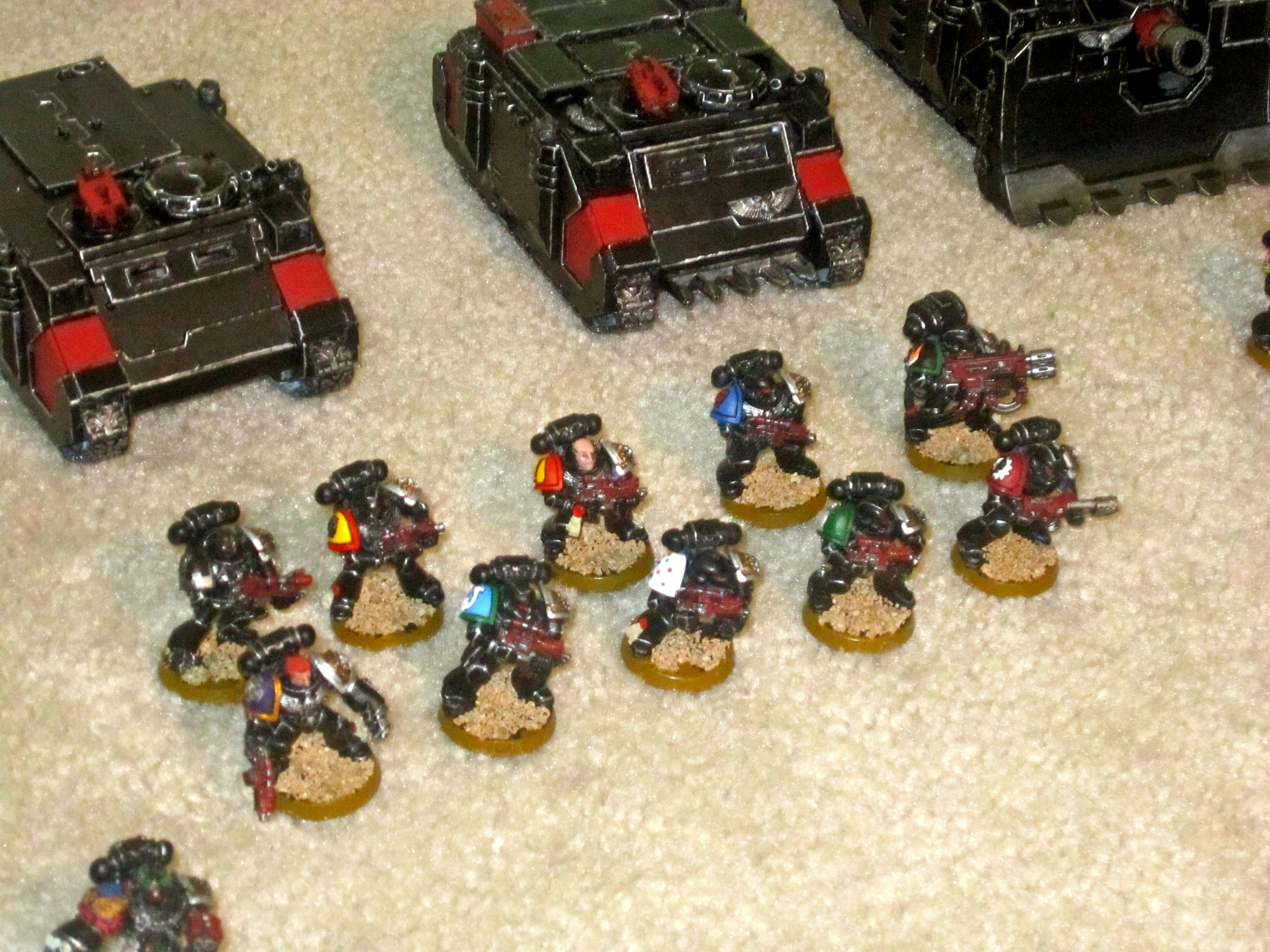 Adeptus Mechanicus, Blood Angels, Crimson Fists, Dark Angels, Death Watch, Deathwatch, Emperor's Other Children, Imperial Fists, Inquisition, Iron Hands, Salamanders, Space Marines, Tactical Squad, Ultra Marines