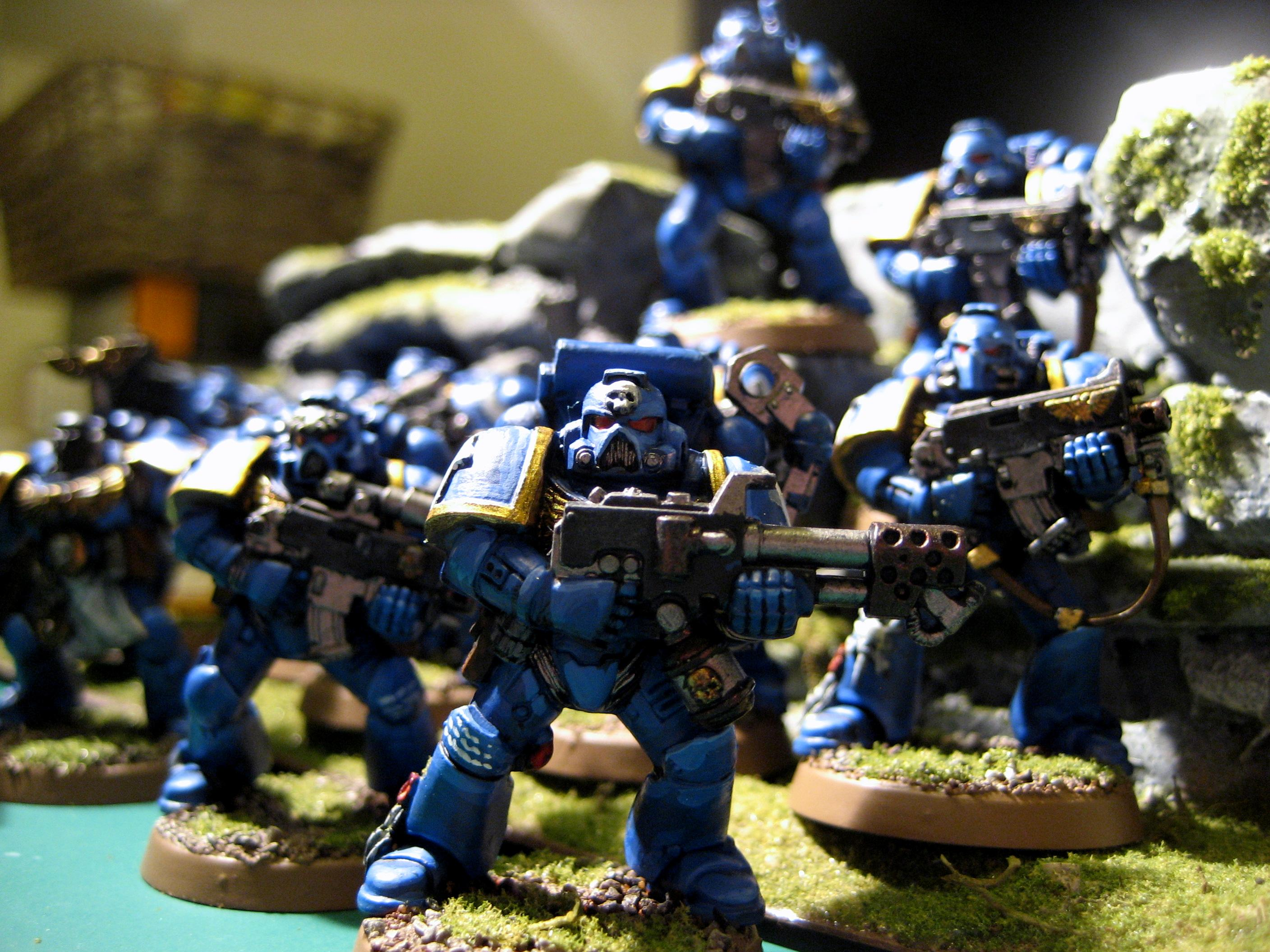 Backpack, Bolter, Flamer, Space Marines, Tactical, Tactical Squad, Ultramarines, Warhammer 40,000