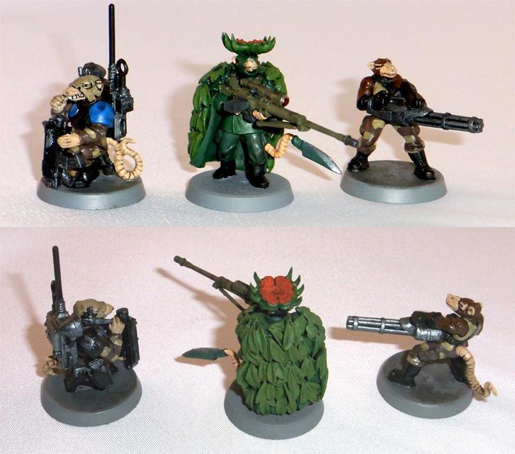 Female, Flower, Korbenn, Minigunner, Operator, Radio, Rat, Skaven, Snipers