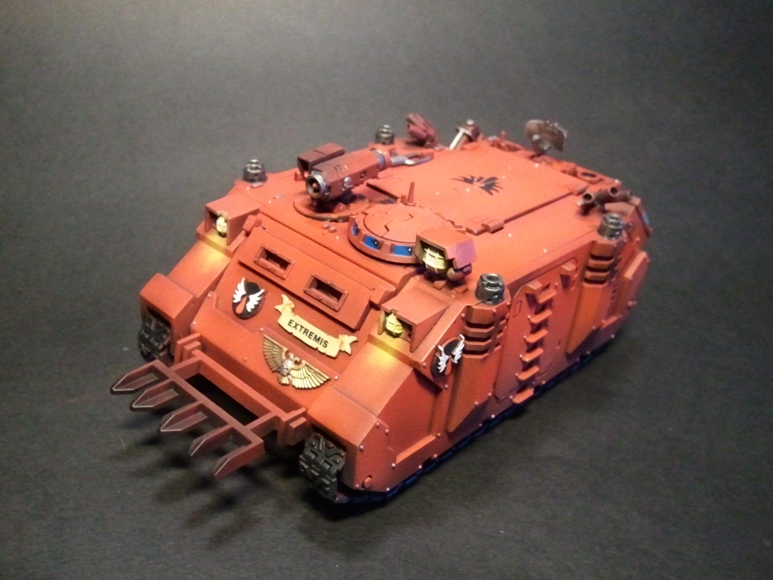 Blood Angels, Object Source Lighting, Rhino, Space Marines, Warhammer 40,000