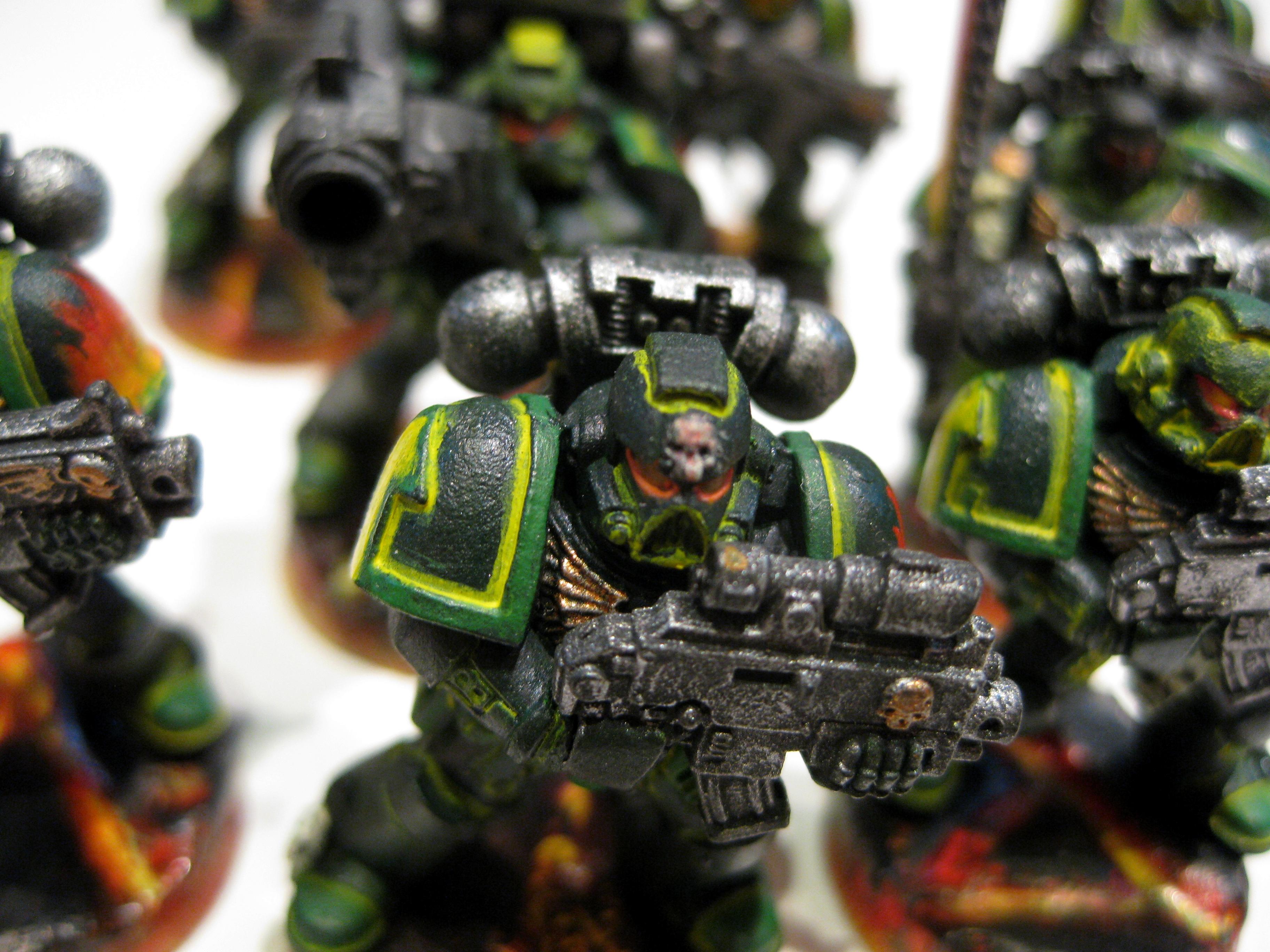 LED, Light, Salamander, Space, Space Marines, Warhammer 40,000