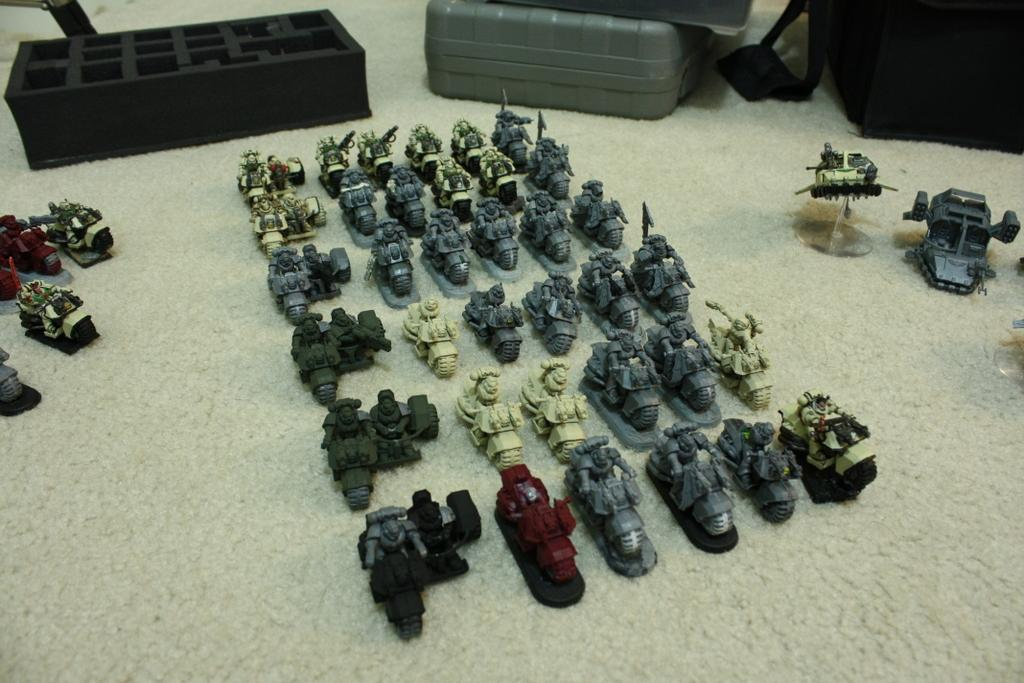 All squads are specced out. Even have the resin bases for some