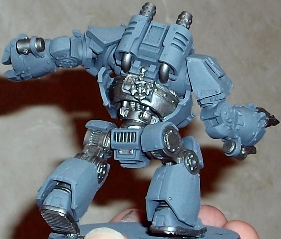 Airbrushed, Contemptor, Dreadnought, Space Wolves, Work In Progress