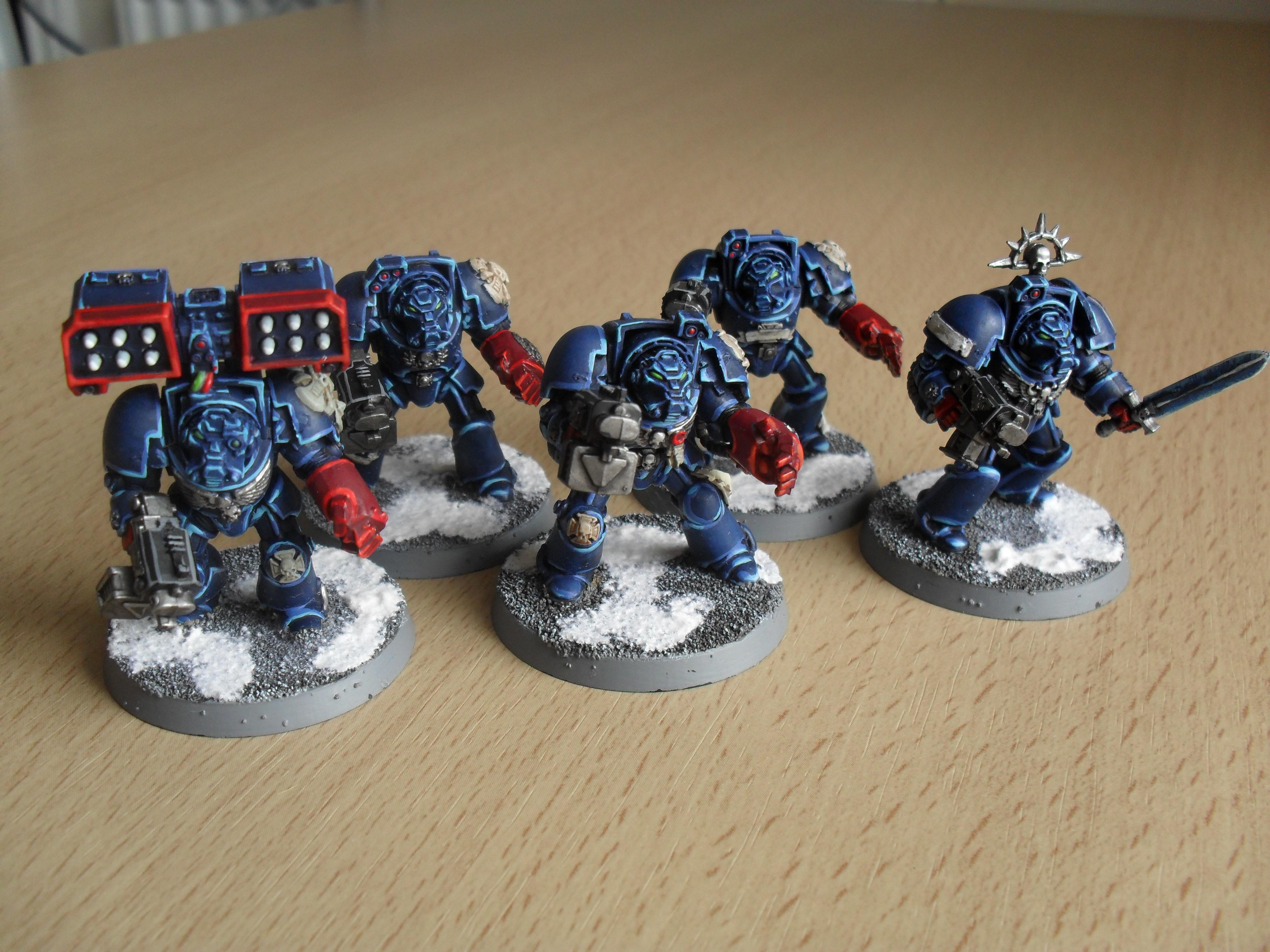 Crimson Fists, Crimson Fists; Terminators, Space Marines, Terminator Armor