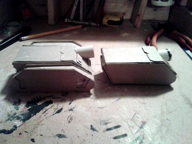 Papercraft, Rhino, Scratch built vindicator sides