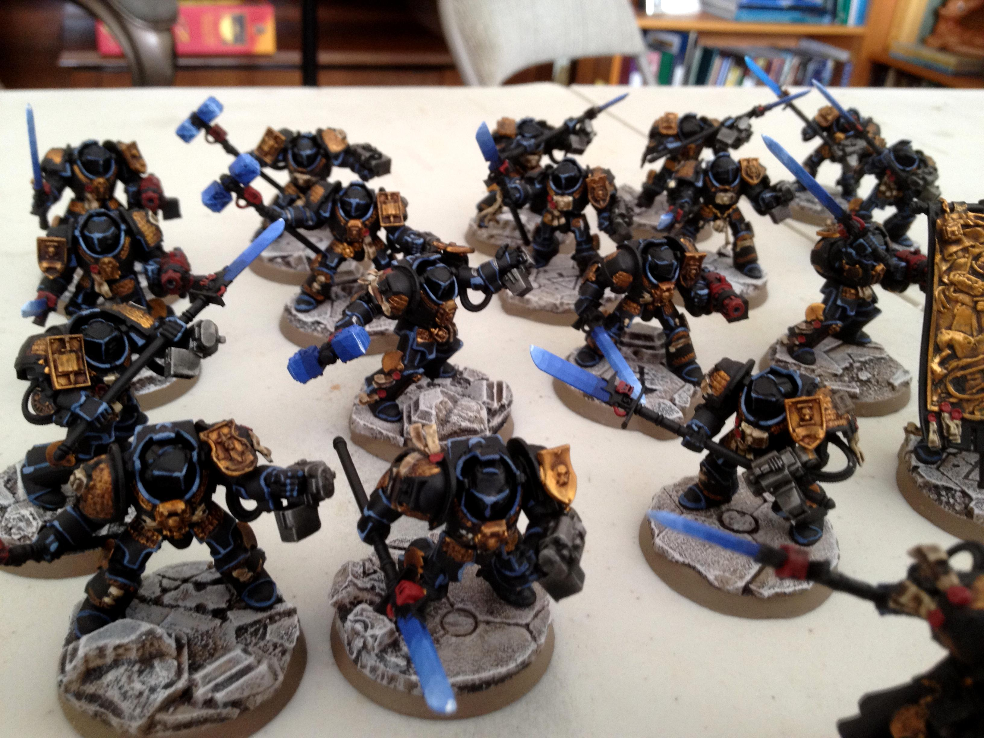 Dragonforge, Grey Knights, Resin Bases, Terminator Armor