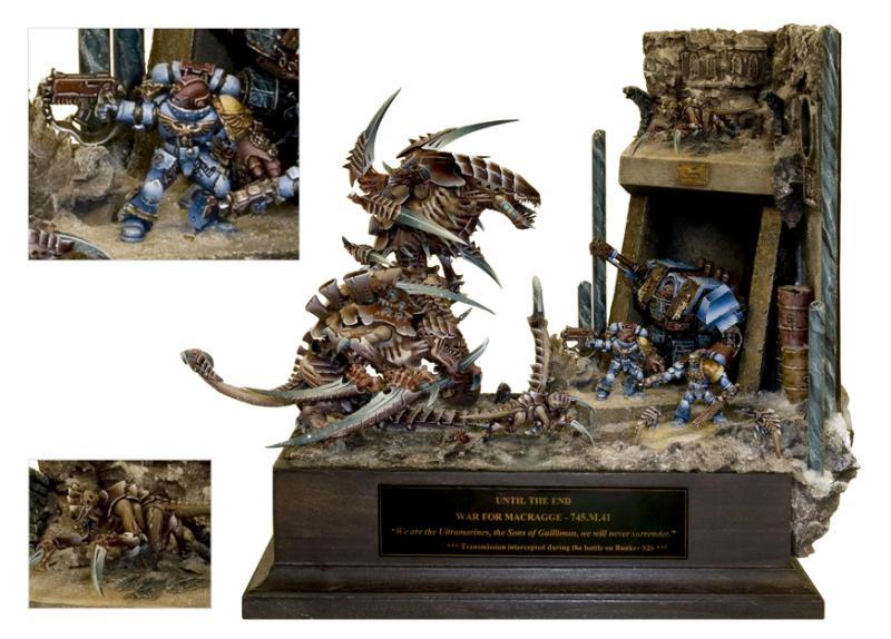 Carnifex, Diorama, Last Stand, Space Marines, Tyranids, Ultra, Ultra Marines