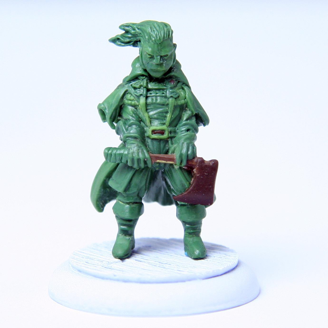 Green, Grine, Original, Pathfinders, Sculpting