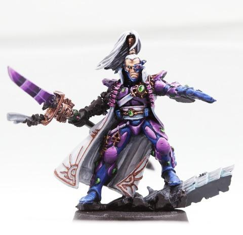 Eldar, Gem, See-through, Urple, Warhammer 40,000, Wetblending, Work In Progress, Yriel