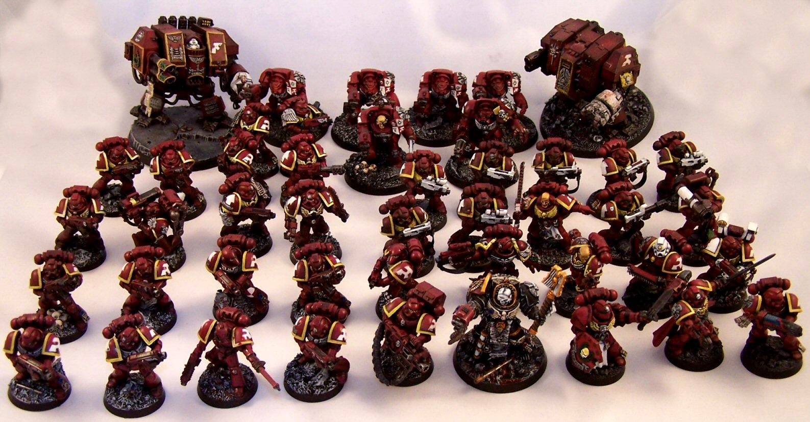 Dreadnought, Emperor's Wings Chapter, Space Marines, Tactical Squad, Terminator Armor, Terminator Chaplain