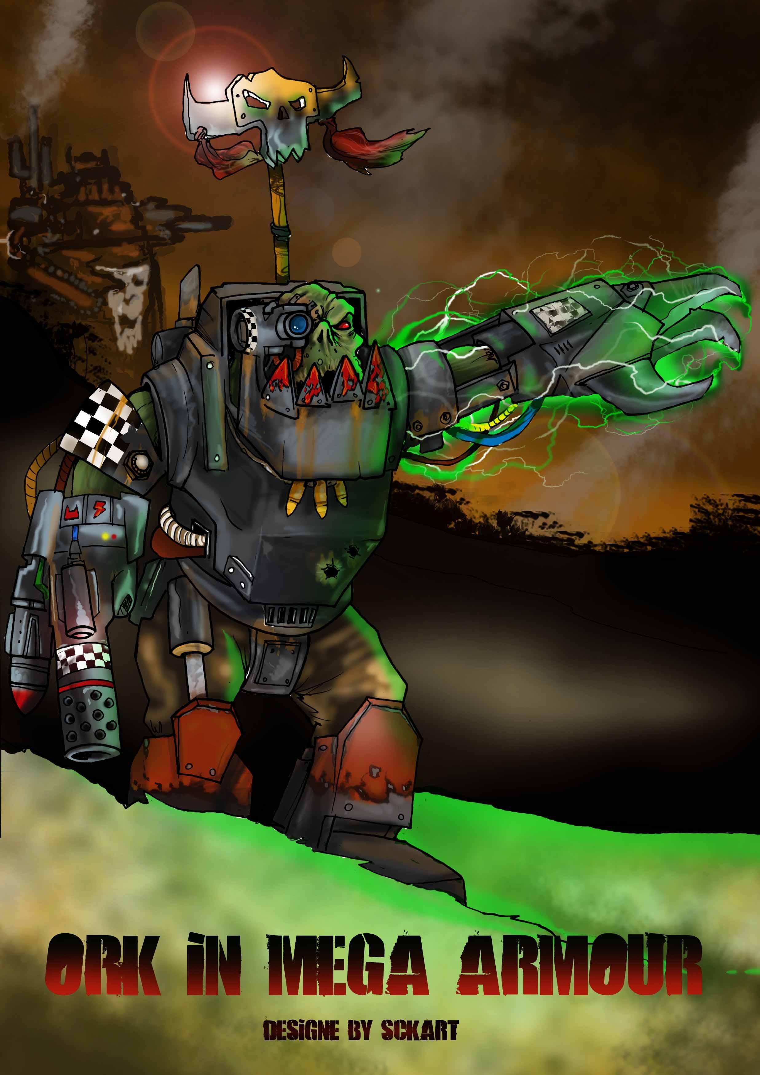 Artwork-ork, mega armour