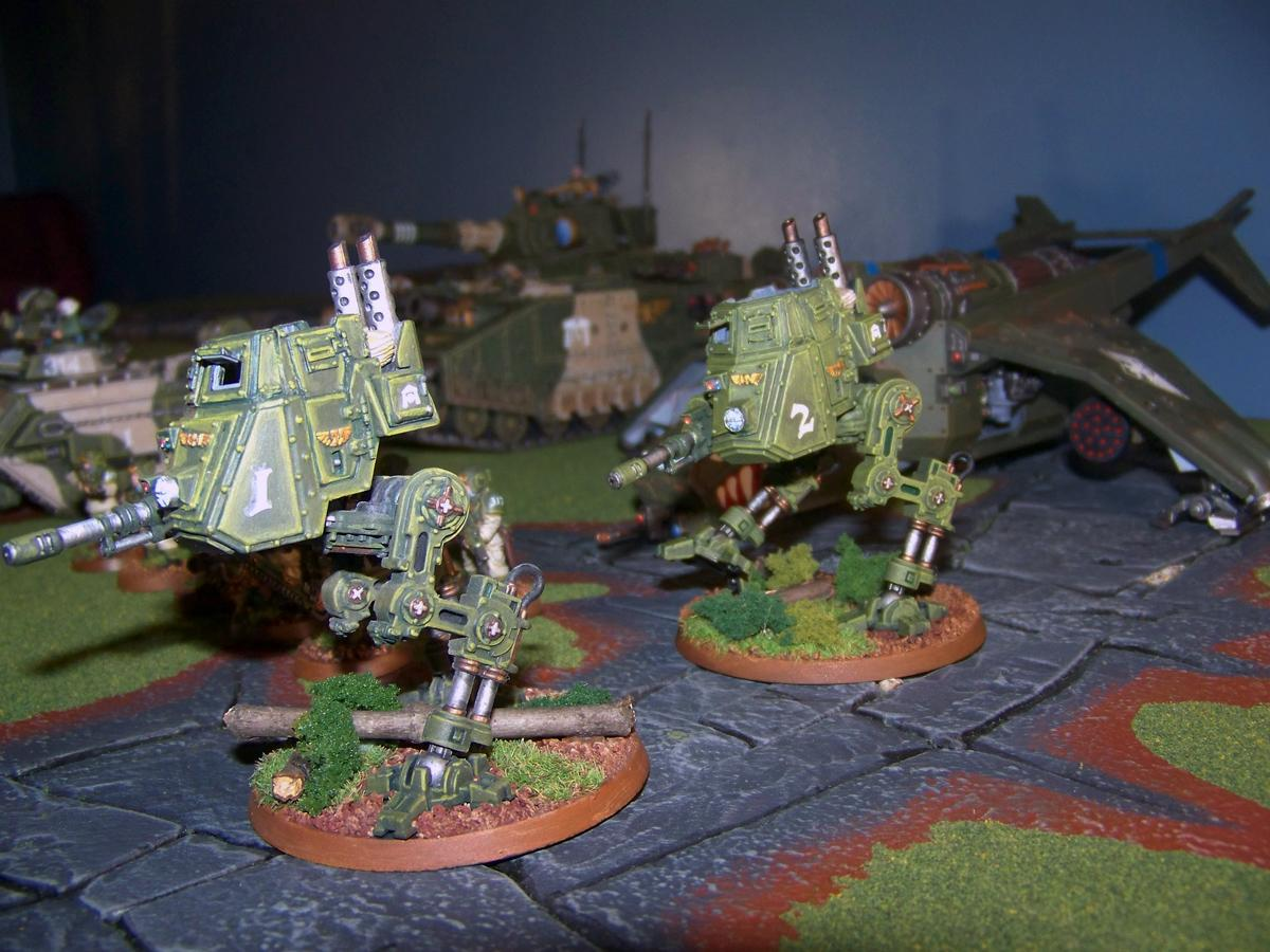 Cadians, Imperial Guard, Sentinel, Warhammer 40,000