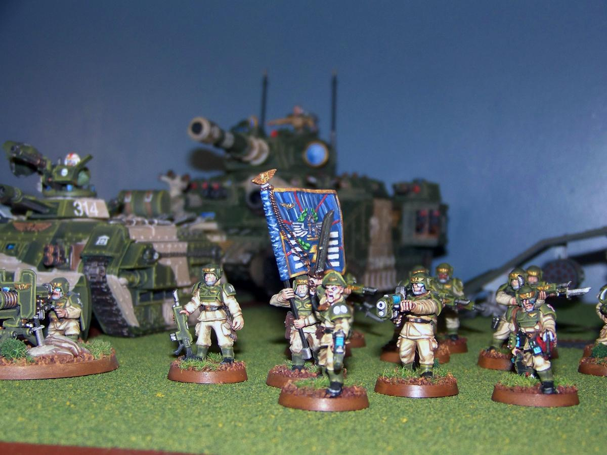 Baneblade, Cadians, Command Squad, Imperial Guard, Junior Officer, Warhammer 40,000