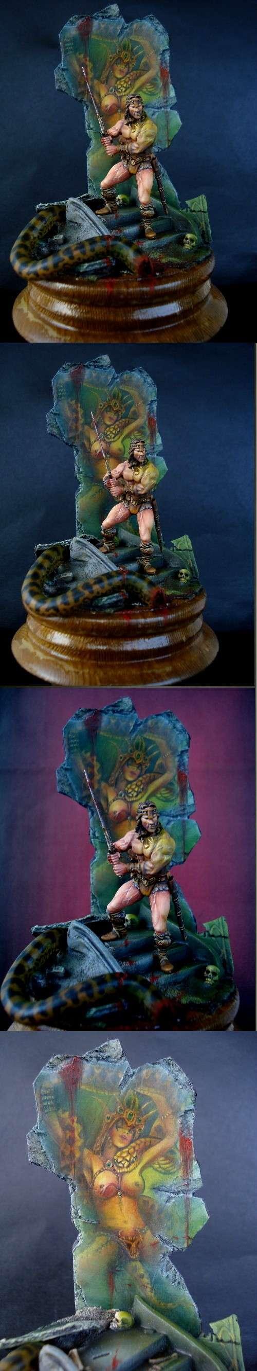 Barbarian, Conan, Diorama, Warhammer Fantasy