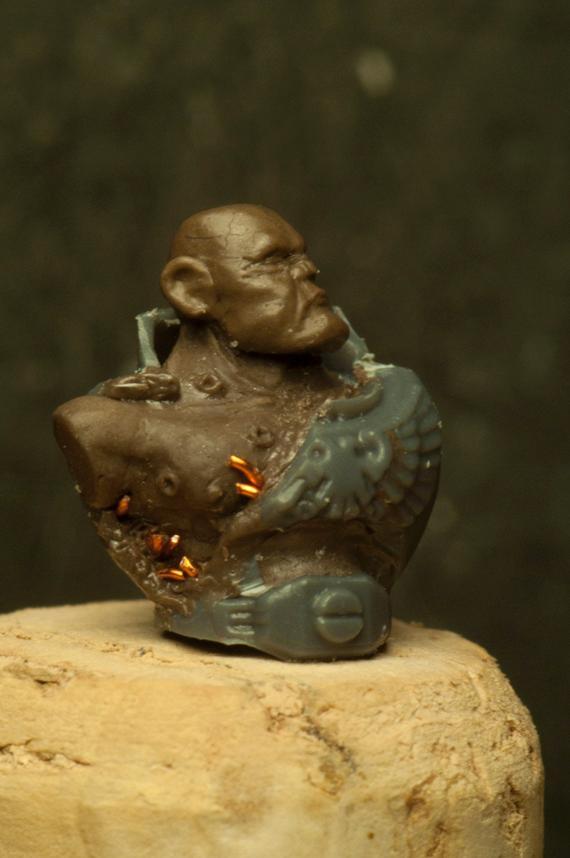 Brownstuff, Deatchwatch, Minotaurus, Sculpting, Space Marines
