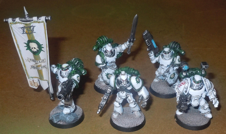 Command Squad, Death Guard, Heresy Era, Space Marines