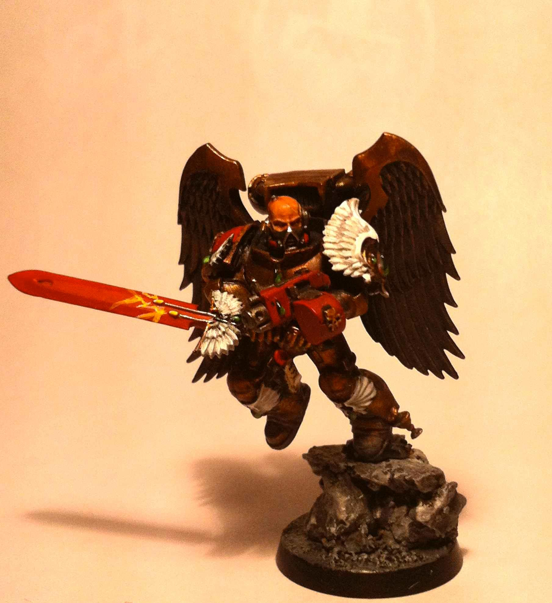Based, Blood Angels, Cool., No Helmet, Sanguinary Guard, Winged