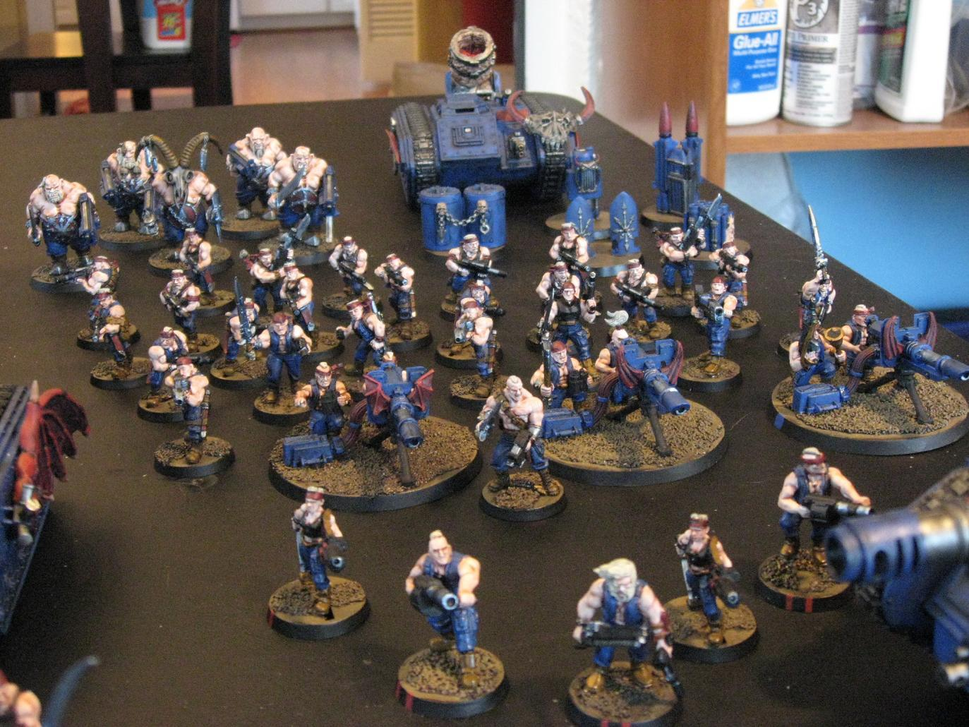 Imperial Guard, Infantry Squads, Ogryns, Platoon Command Squad, Sons Of The Night, Traitor Guard, Warhammer 40,000
