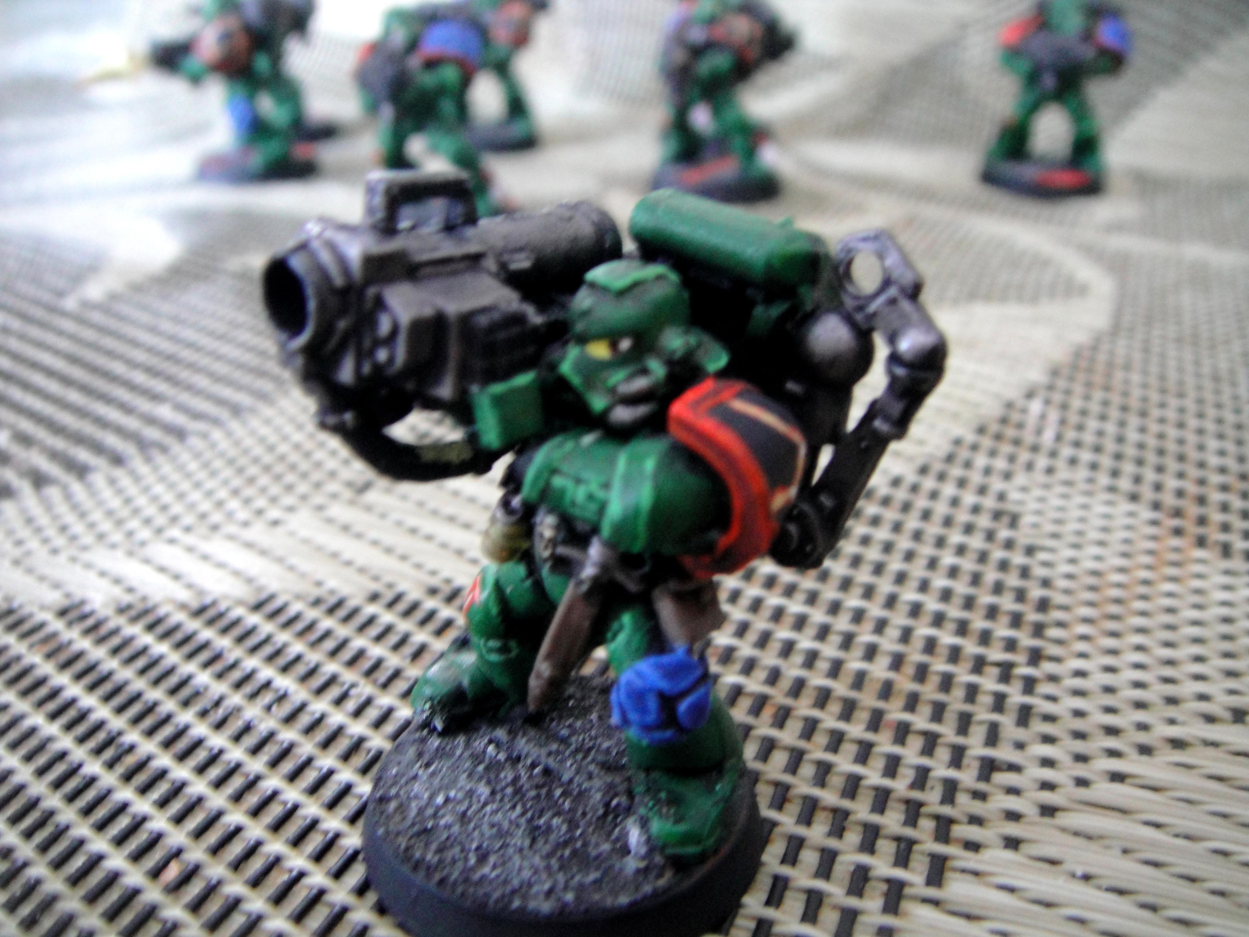 Missile Launcher, Salamanders, Space Marines