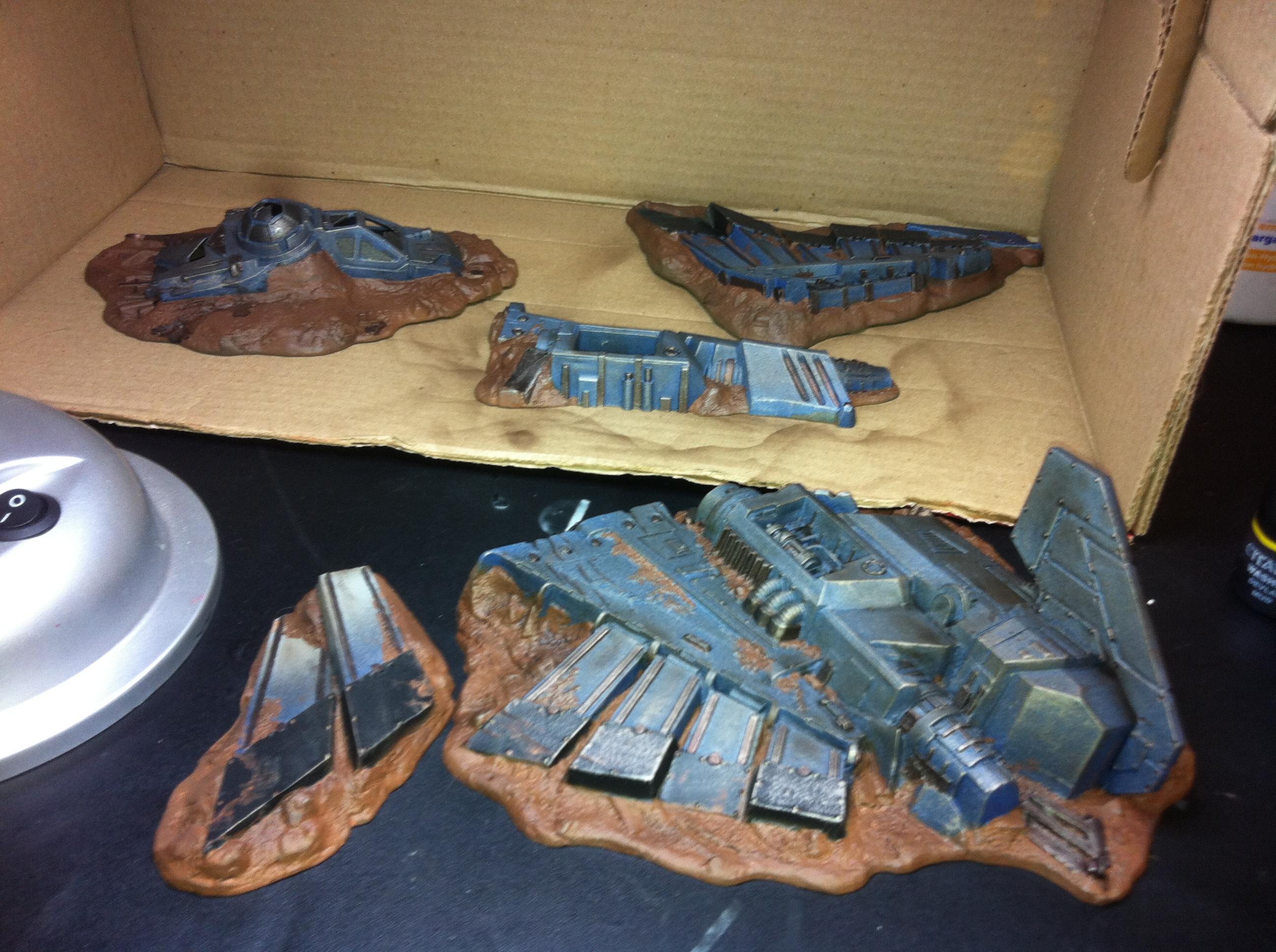 Aquilla, Crash, Lander, Ruin, Terrain, Work In Progress