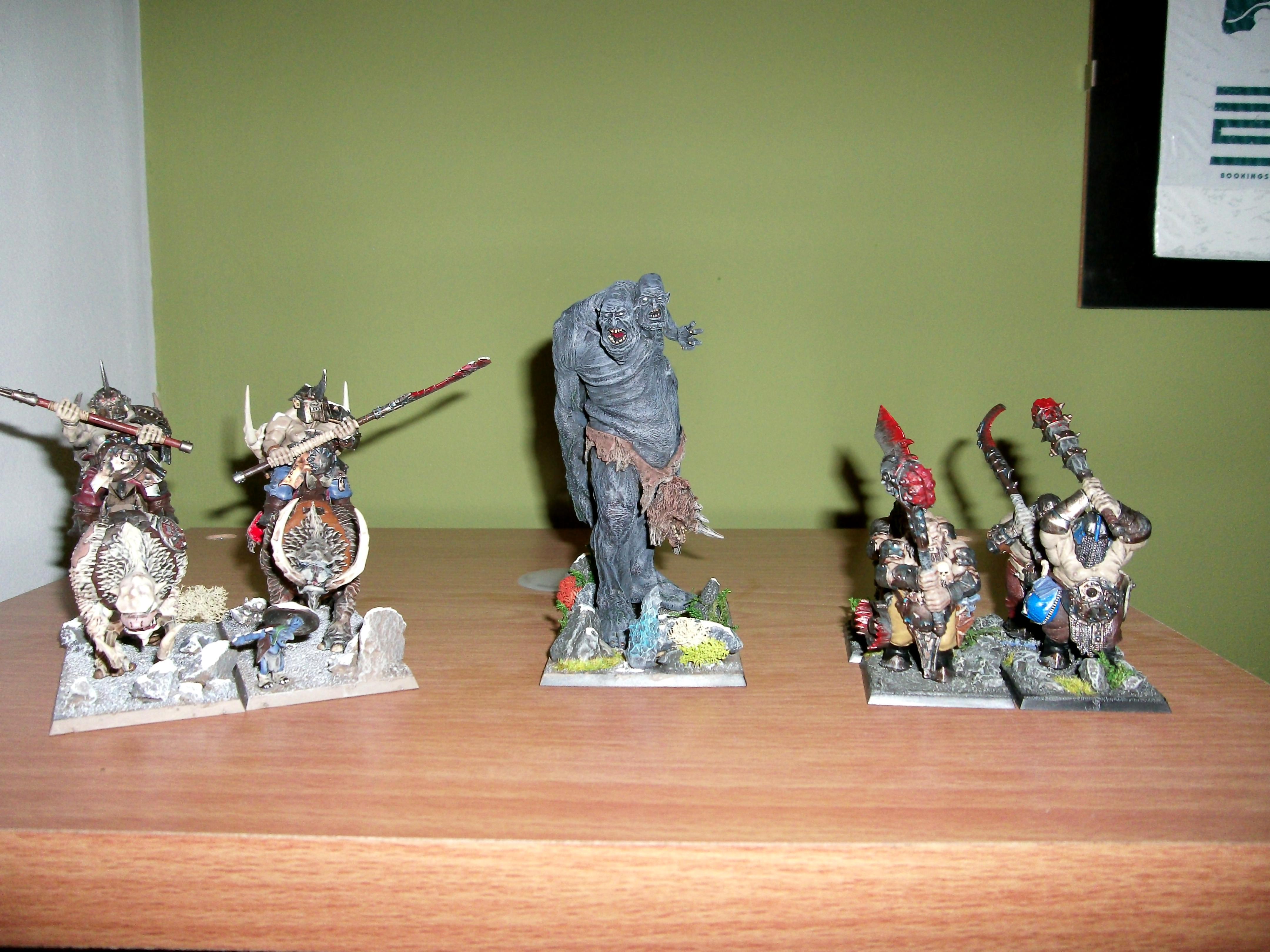 Cavalry, Curs'd Ettin, Giant, Mournfang, Mournfangs, Ogre Kingdoms, Ogres, Slave Giant