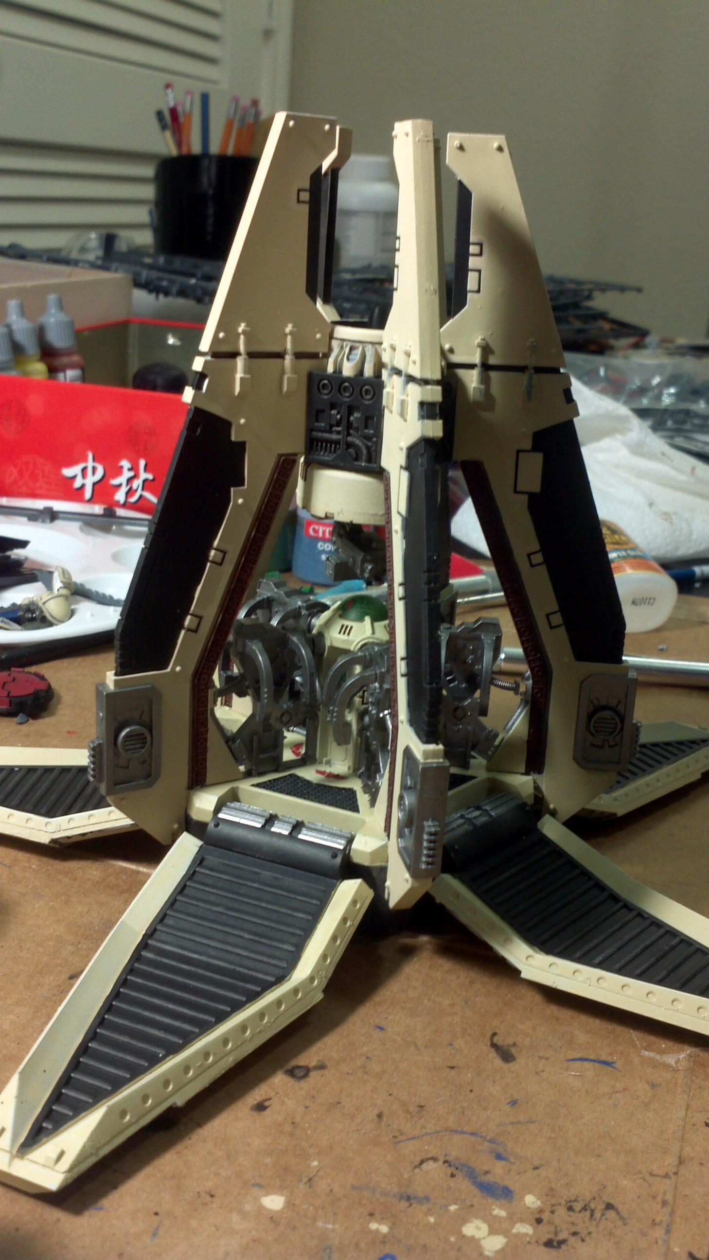 Side pillars are assembled