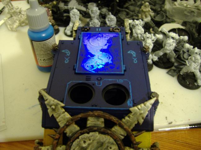 Chaos Space Marines, LED, Rhino, Warmill