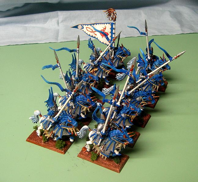 Cavalry, Dirt Base, Dragon Prince, High Elves, Textured Base, Warhammer Fantasy