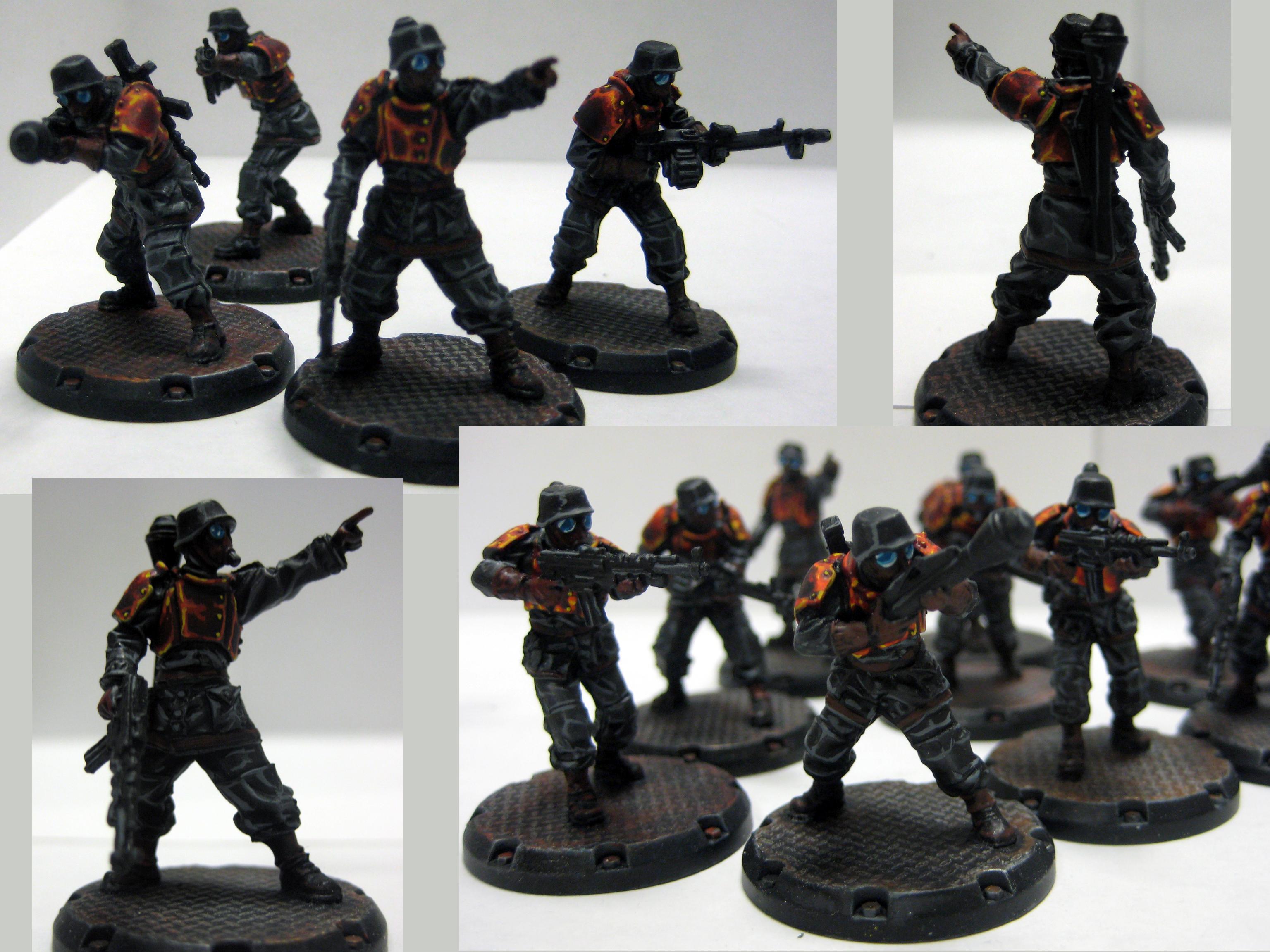 Baneblade, Dust Tactics, Grenadiers, Lava, Red, Sentinel, Traitor Guard, Walker