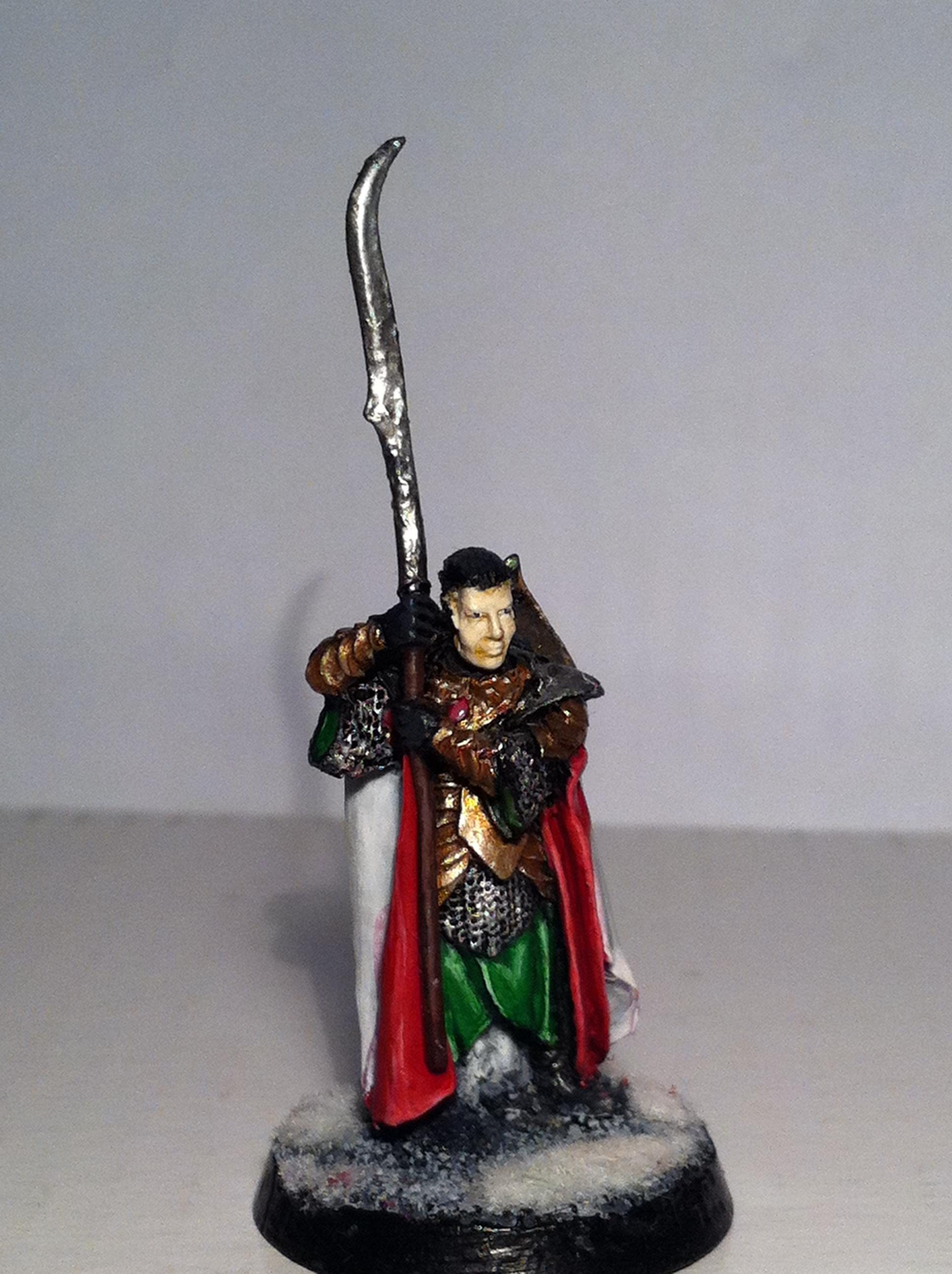 Gil Galad, Gold Armour, Green, Lord Of The Rings, Red, Snow