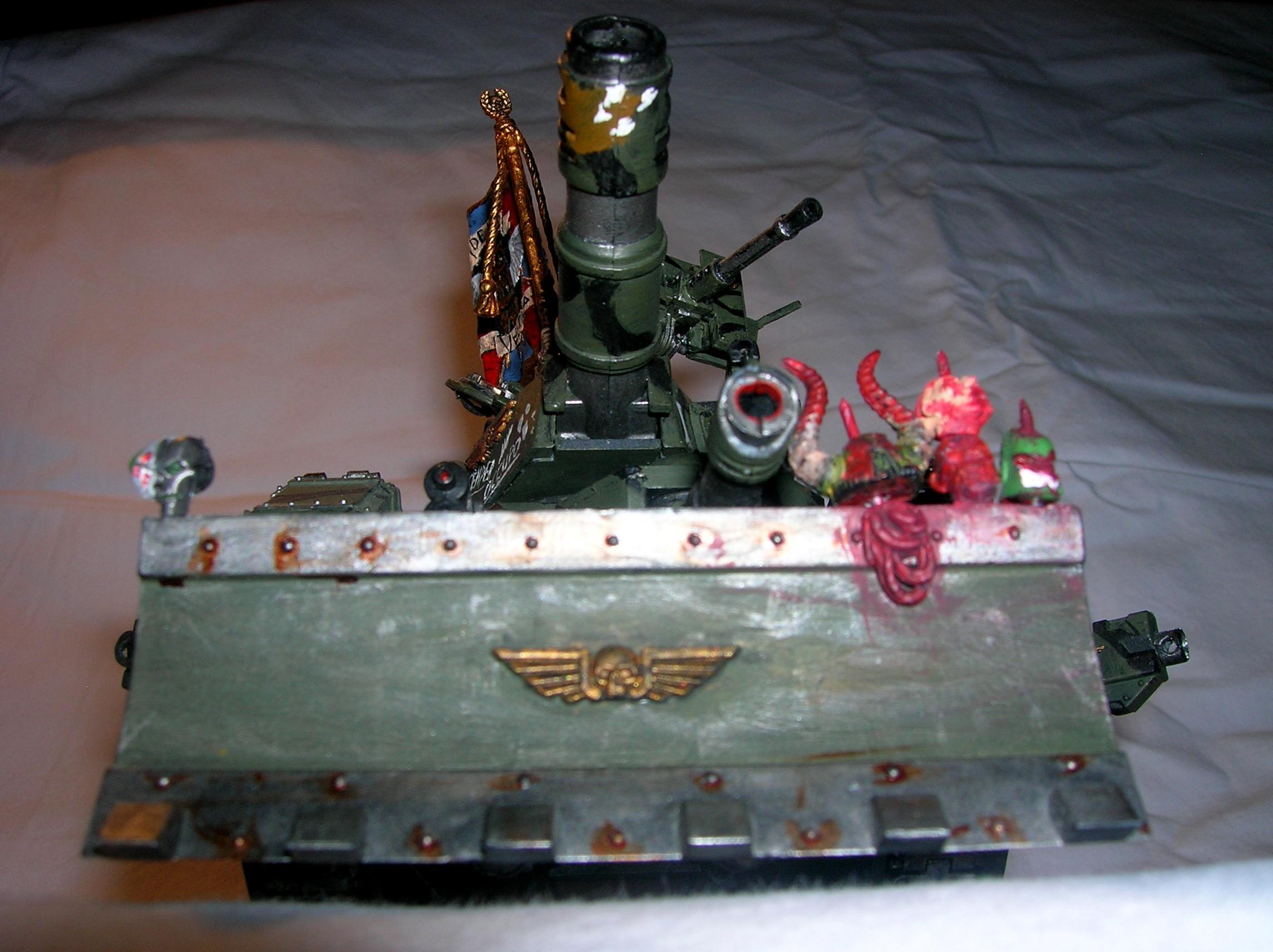 Chaos, Gun, Imperial Guard, Leman Russ, Space Marines, Tank