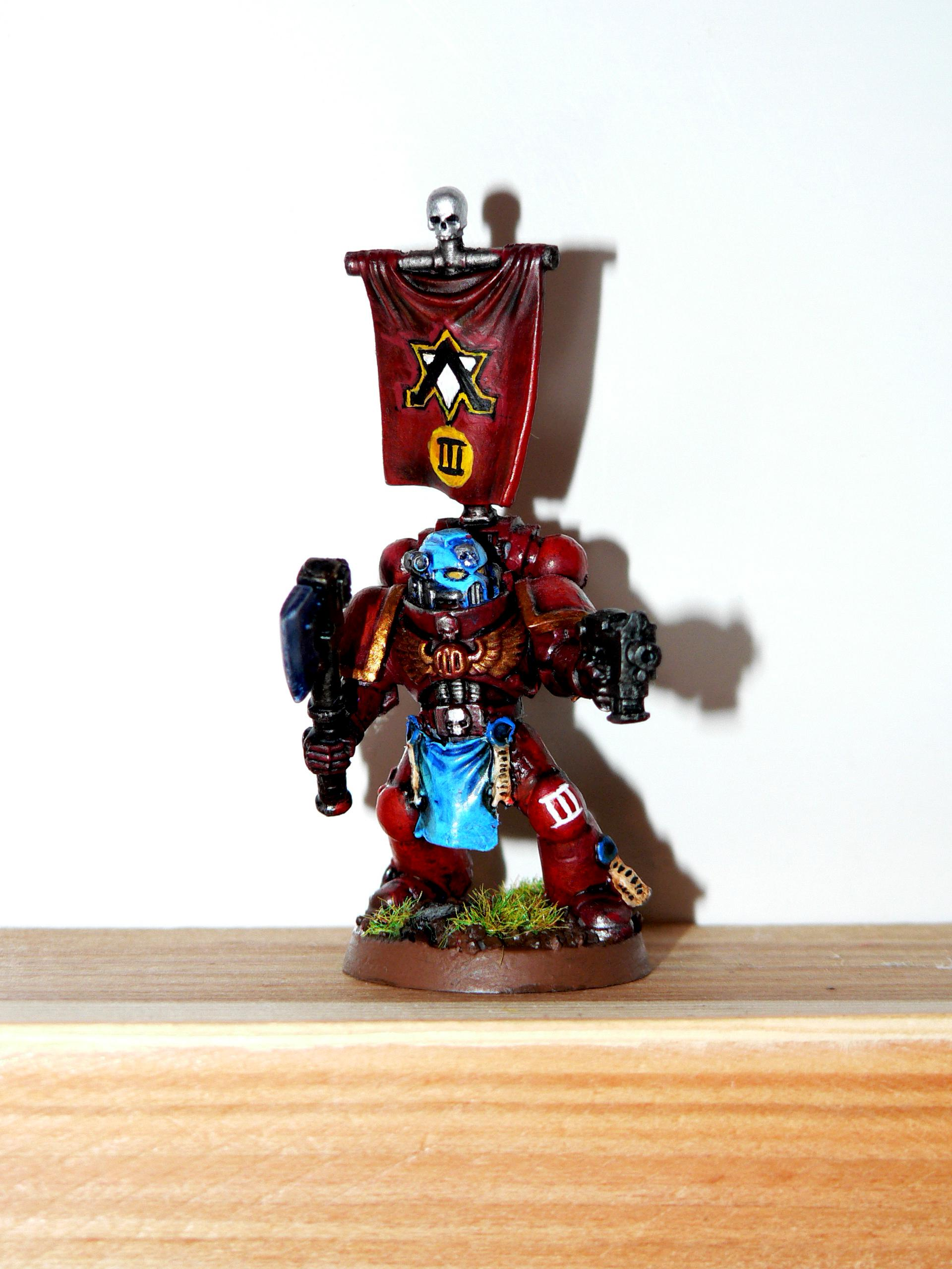 Genesis Chapter, Power Axe, Sergeant, Space Marines, Tactical Squad