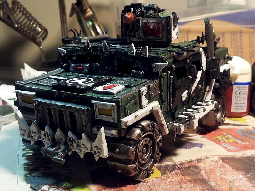 Conversion, Humma, Hummer, Orcs, Orks, Trukk, Warhammer 40,000