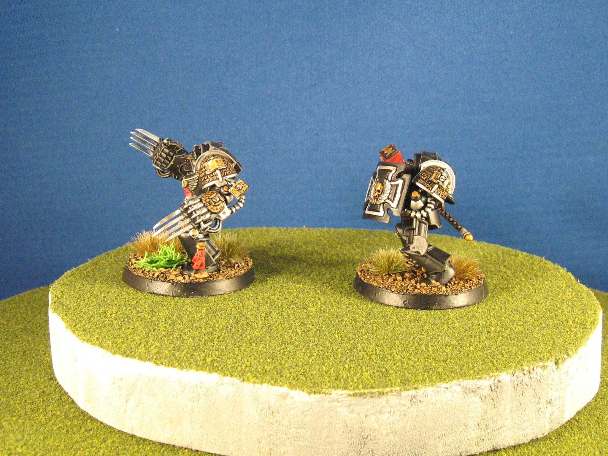 Assault Terminator, Black Templars, Deathwatch, Lightning Claw, Storm Shield, Thunder Hammer