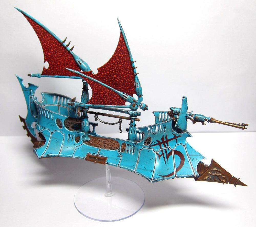 Battle Damage, Blue, Dark Eldar, Raider, Rust
