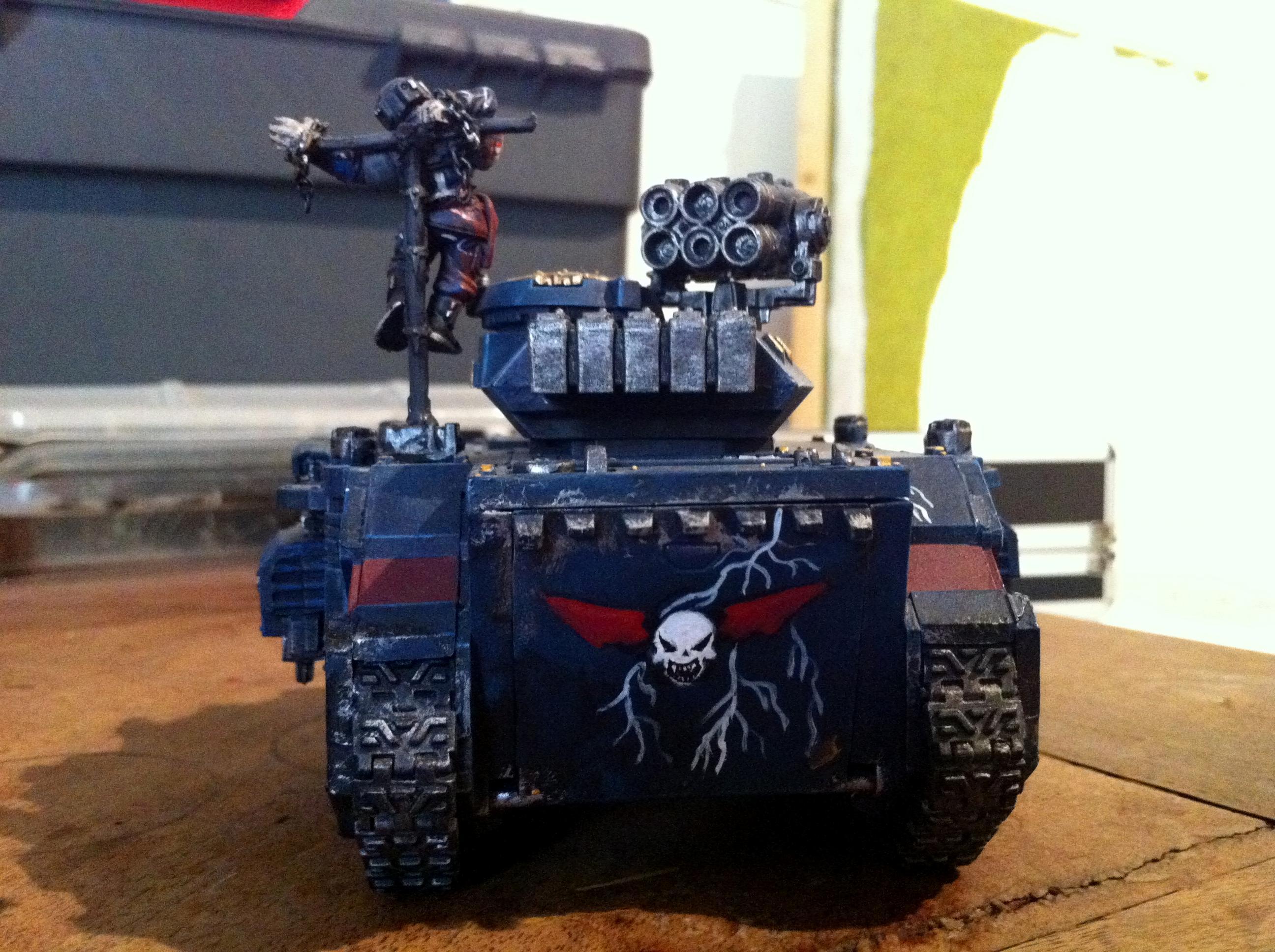 Chaos Space Marines, Nightlords, Predator, Tank, Warhammer 40,000