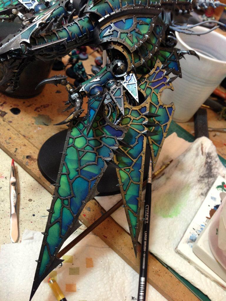 Airbrush, Alpha Legion, Chaos Space Marines, Games Workshop, Warhammer 40,000, Warhammer Fantasy