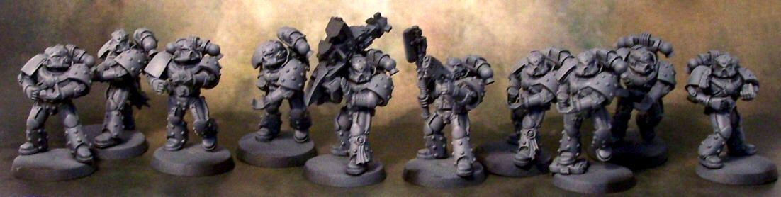 Missile Launcher, Pre Heresy Death Guard, Space Marines, Tactical Squad, Work In Progress