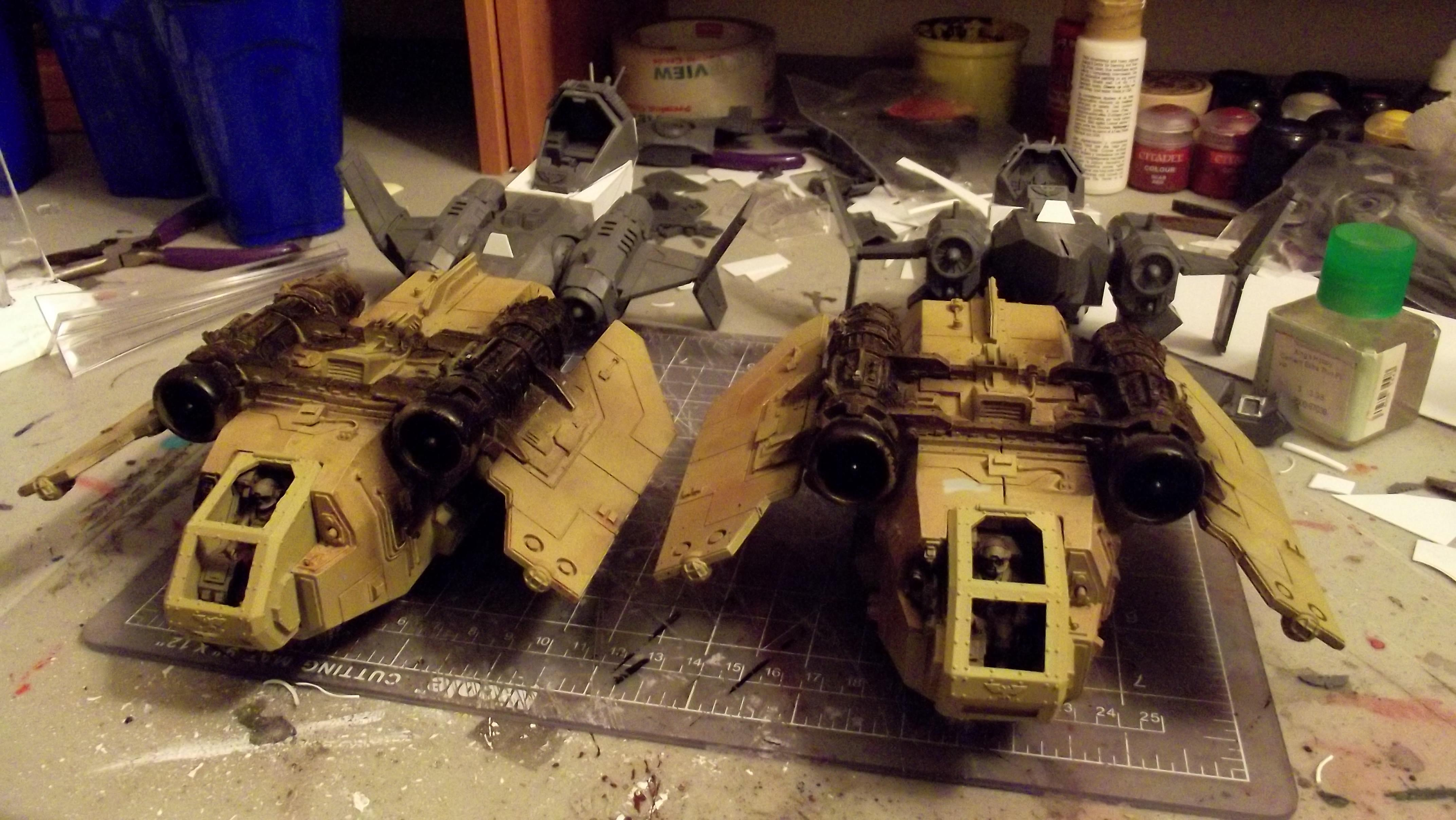 Arvus Lighters, Flyer, Forge World, Navy, Work In Progress