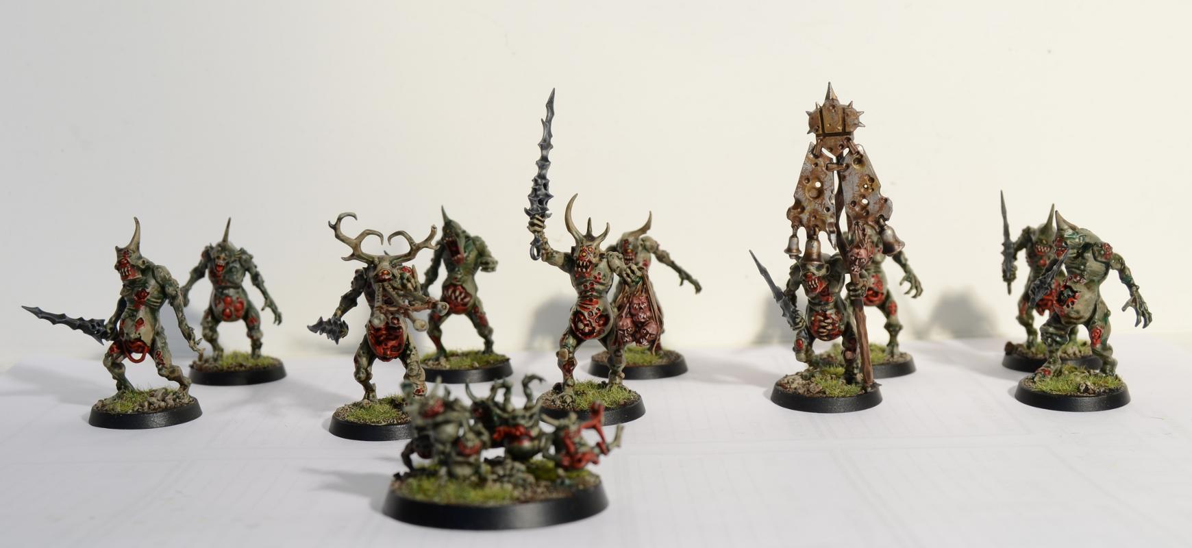 Daemons Of Nurgle, Nurgle, Nurgle Daemons, Nurgle Plaguebearers, Nurglings, Plaguebearers