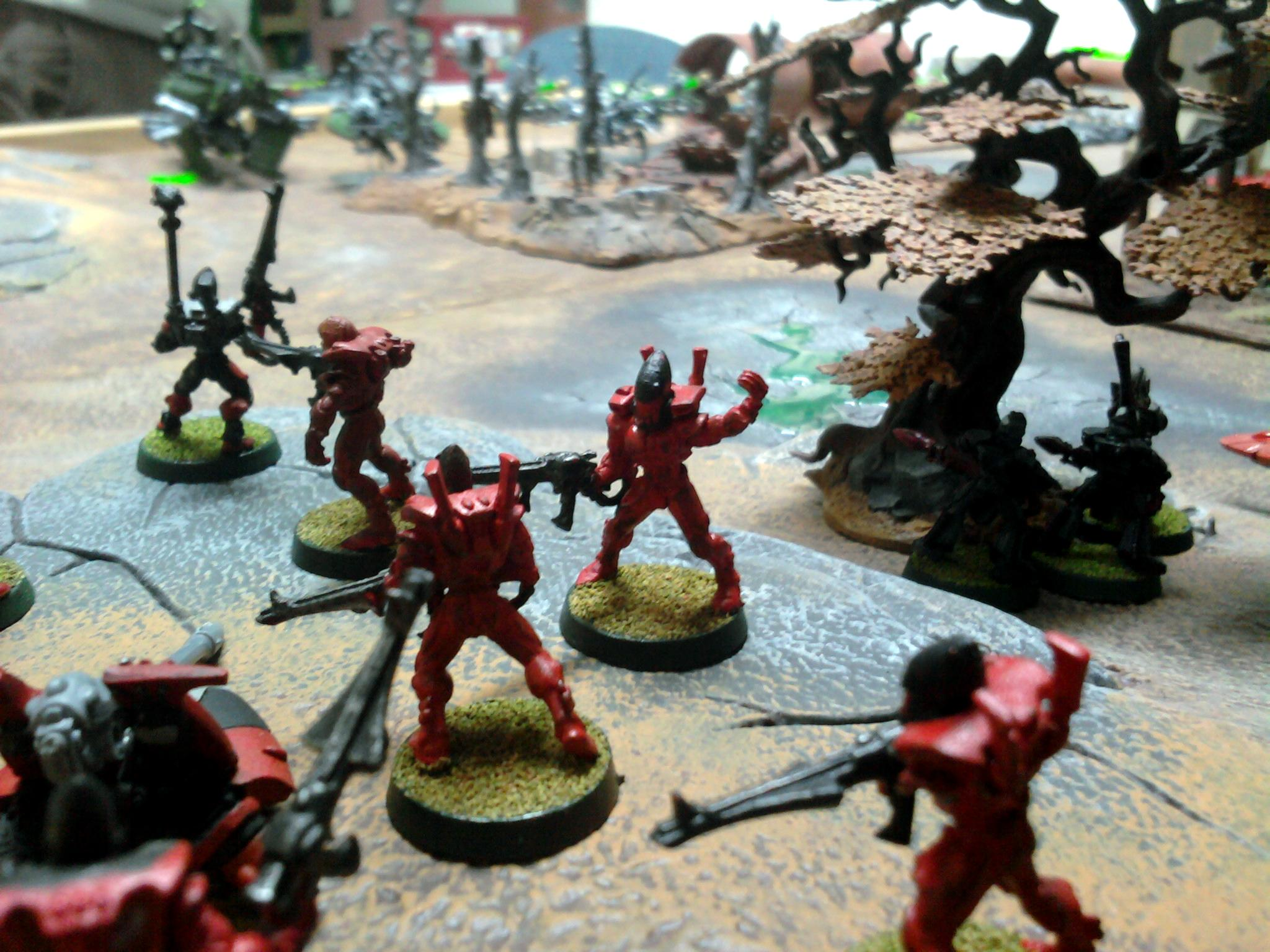 Bat Rep, Battle Report, Eldar, Game Table, Necrons, Terrain